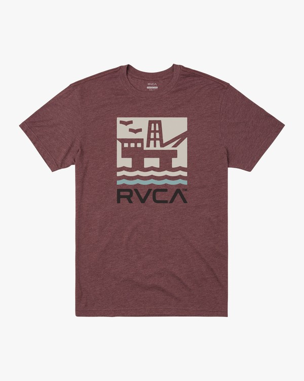 0 OFFSHORE SHORT SLEEVE TEE Red M4202ROF RVCA