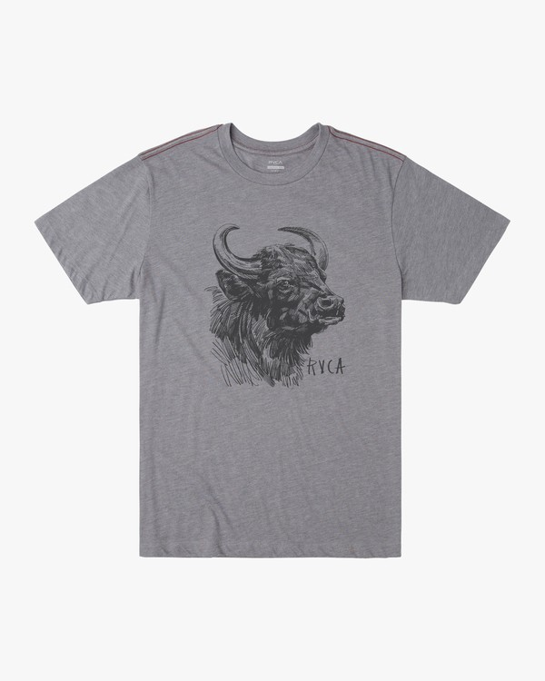 0 WATER BUFFALO SHORT SLEEVE TEE Grey M4202RWA RVCA