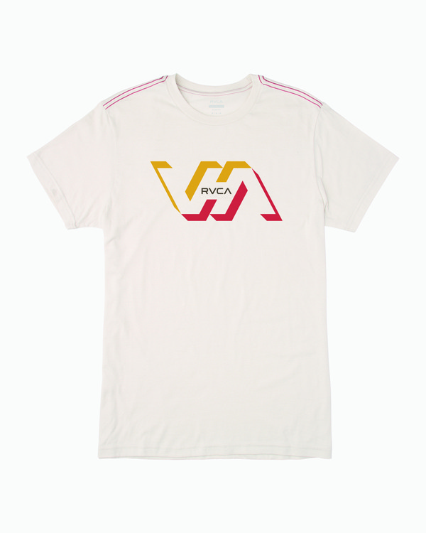 0 FACETS SHORT SLEEVE T-SHIRT White M4203RFA RVCA