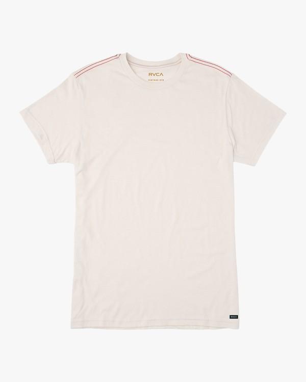 0 Solo Label T-Shirt White M420SRSO RVCA