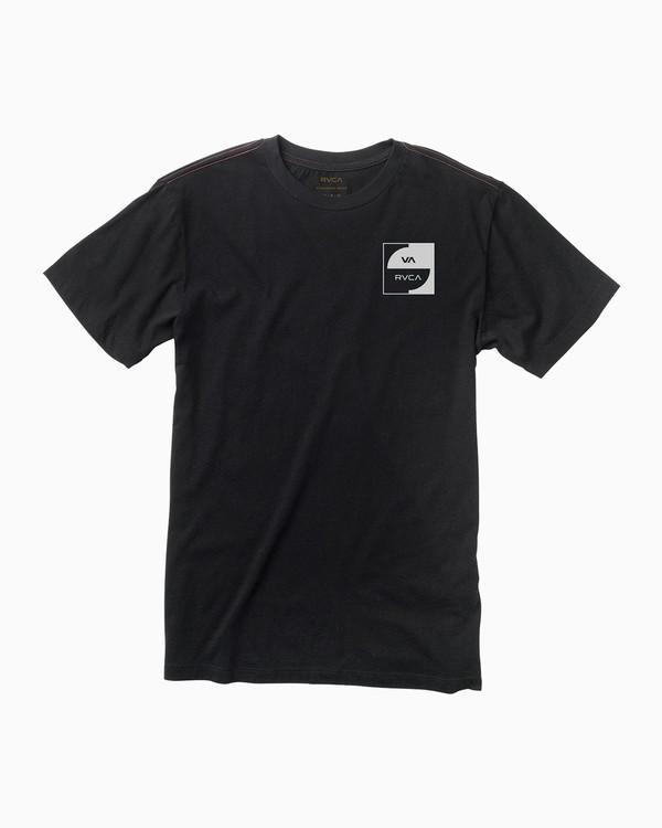 0 Squircle T-Shirt Black M422QRDQ RVCA