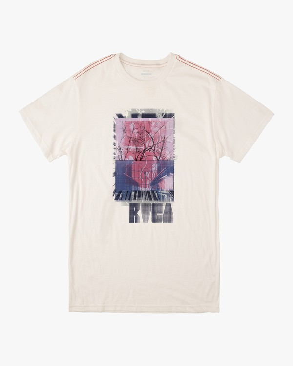 0 VERTEX SHORT SLEEVE T-SHIRT White M4302RVE RVCA