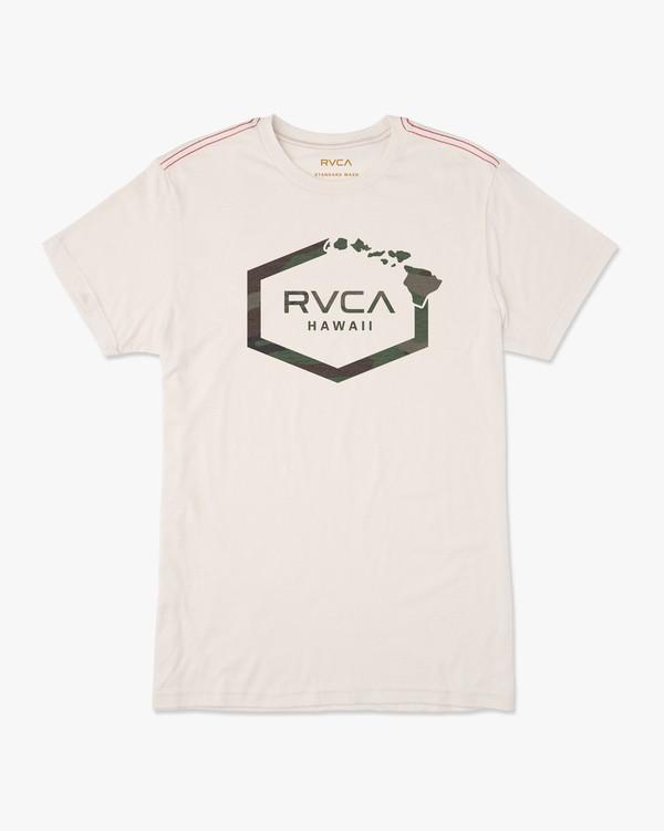 0 Island Hex T-Shirt White M430URIS RVCA