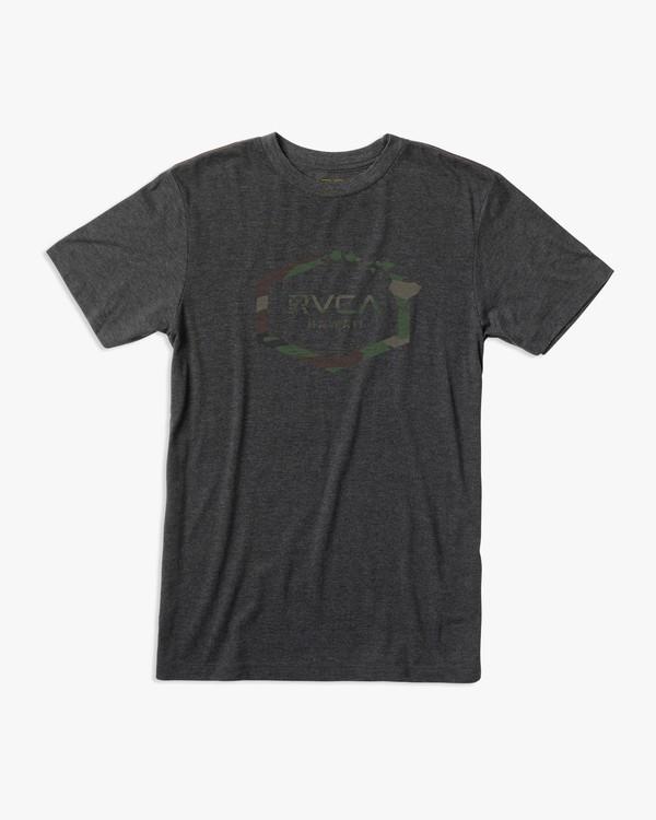 0 Island Hex T-Shirt Black M430URIS RVCA