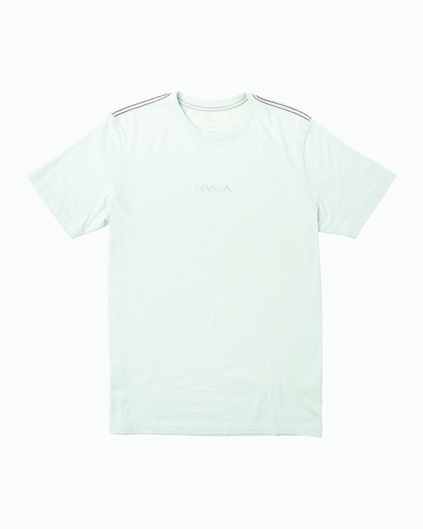 0 Small RVCA Embroidered T-Shirt Blue M430VRSM RVCA