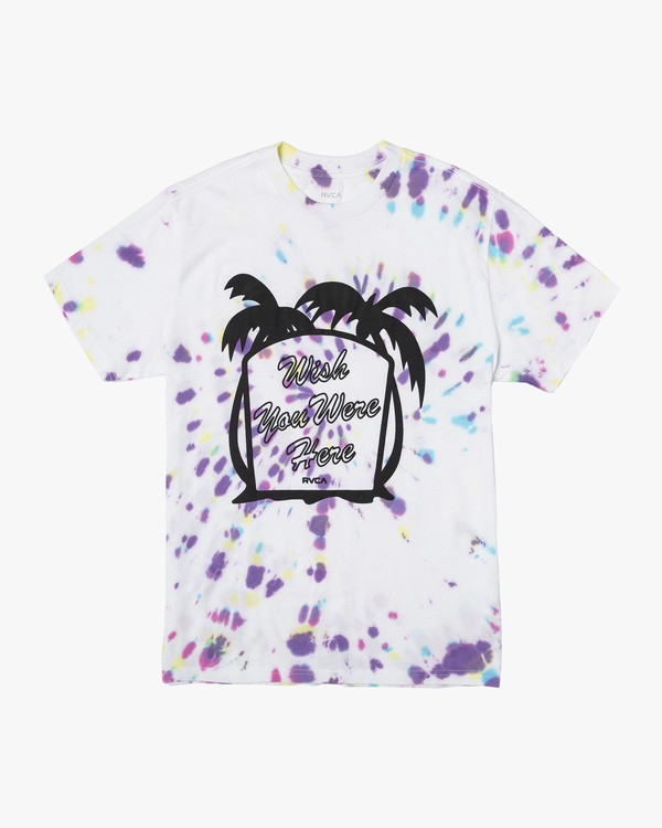 0 Wish You Were Here T-Shirt White M431VRWY RVCA