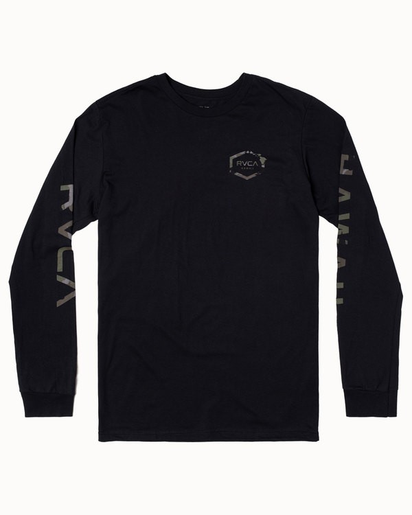 0 ISLAND HEX LONG SLEEVE TEE Black M4513RIH RVCA