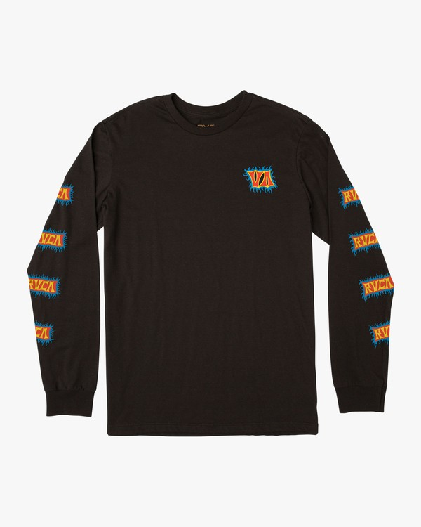 0 Crawling Long Sleeve T-Shirt Black M451TRCR RVCA