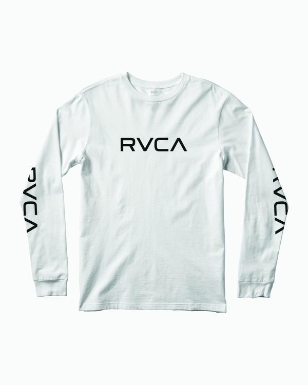 0 Big RVCA Long Sleeve T-Shirt White M451URBI RVCA