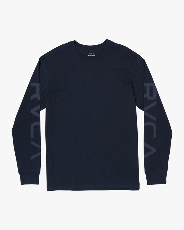 0 BIG PIXEL LONG SLEEVE T-SHIRT Blue M4923RBI RVCA