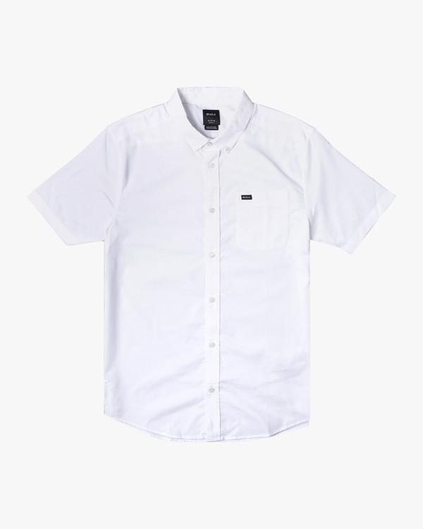 0 THATLL DO OXFORD STRETCH SHIRT White M5011ROS RVCA