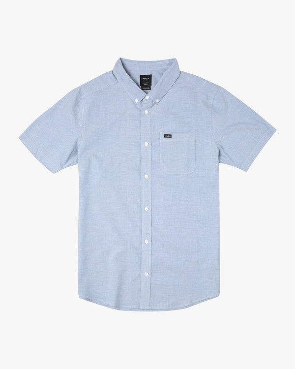 0 THATLL DO STRETCH SHORT SLEEVE SHIRT Blue M501VRTD RVCA