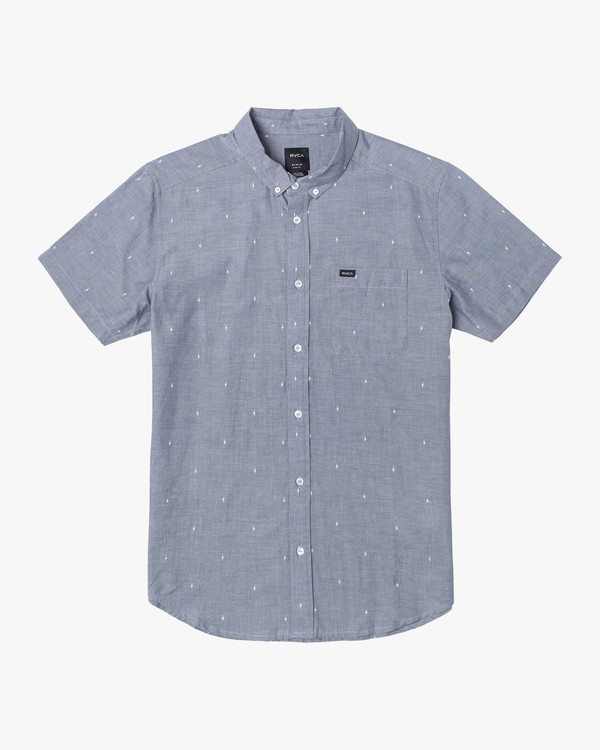 0 THATLL DO DOBBY SHORT SLEEVE SHIRT Blue M503VRDD RVCA