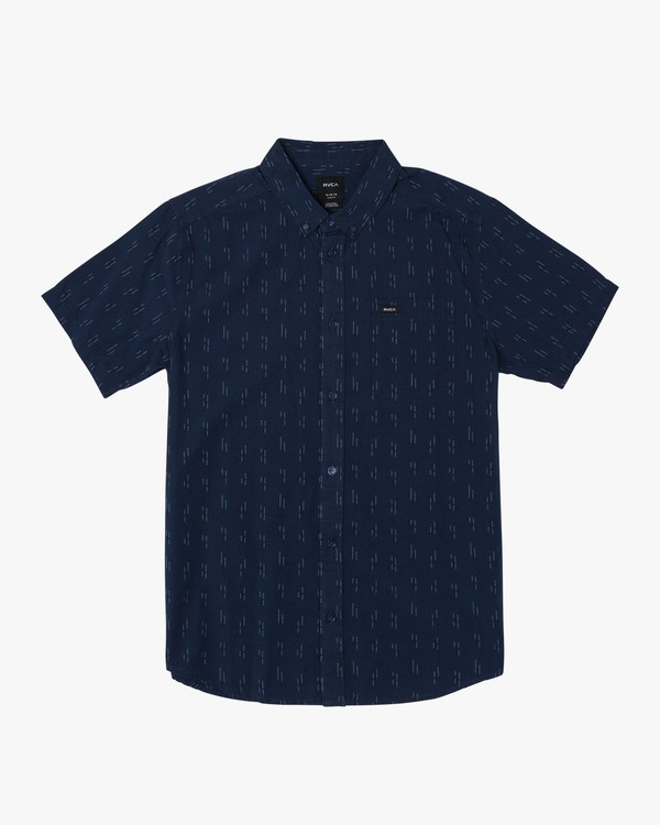 0 That'll Do Dobby Button-Up Shirt Blue M503VRDD RVCA