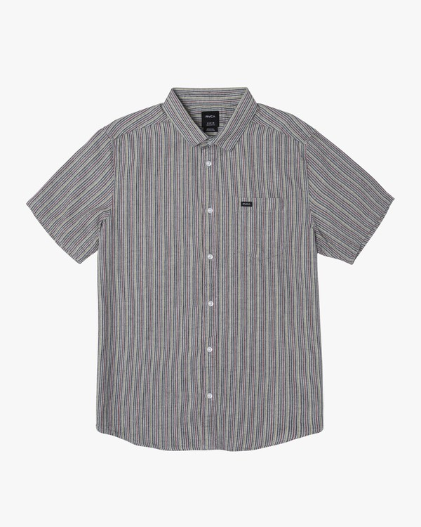 0 Mirage Striped Button-Up Shirt Grey M503WRMI RVCA