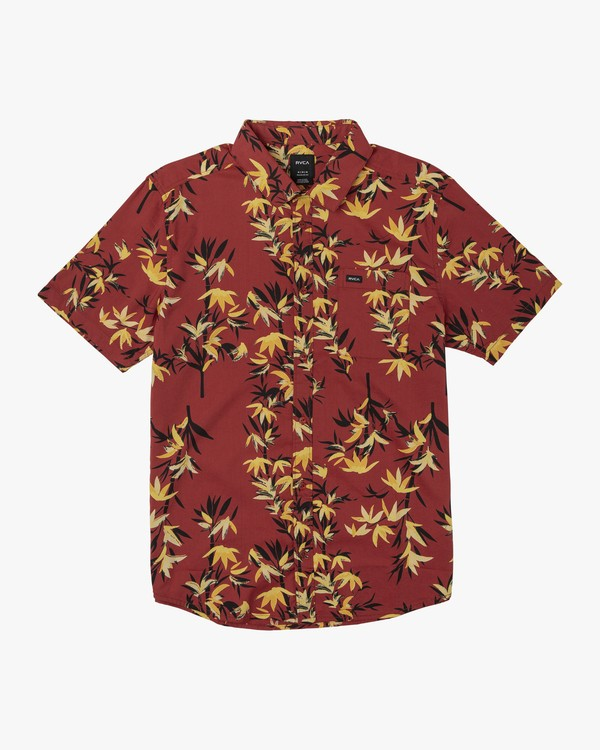 0 Bamboozled Floral Button-Up Shirt Red M507WRBB RVCA