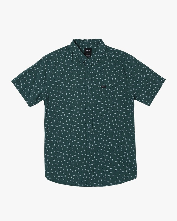 0 Prelude Floral Button-Up Shirt Grey M511VRPF RVCA