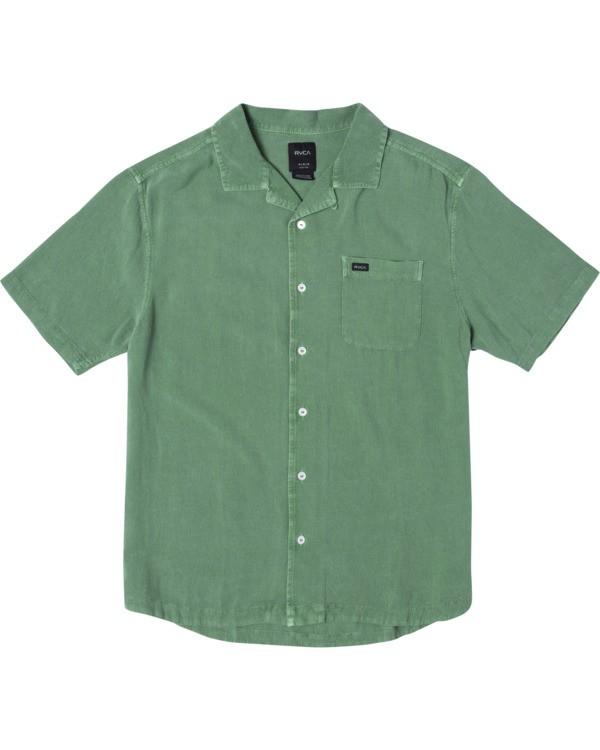 0 BEAT SHORT SLEEVE SHIRT Green M5143RBS RVCA
