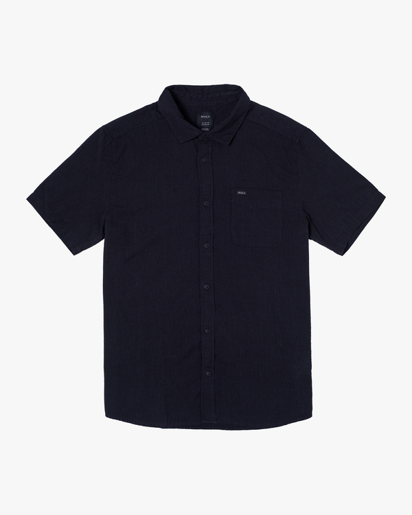 0 ENDLESS SEERSUCKER SHORT SLEEVE SHIRT Orange M5192RES RVCA