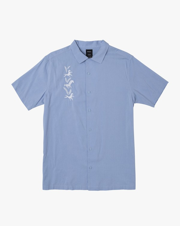 0 Spanky Okapi Button-Up Shirt Blue M521WROS RVCA