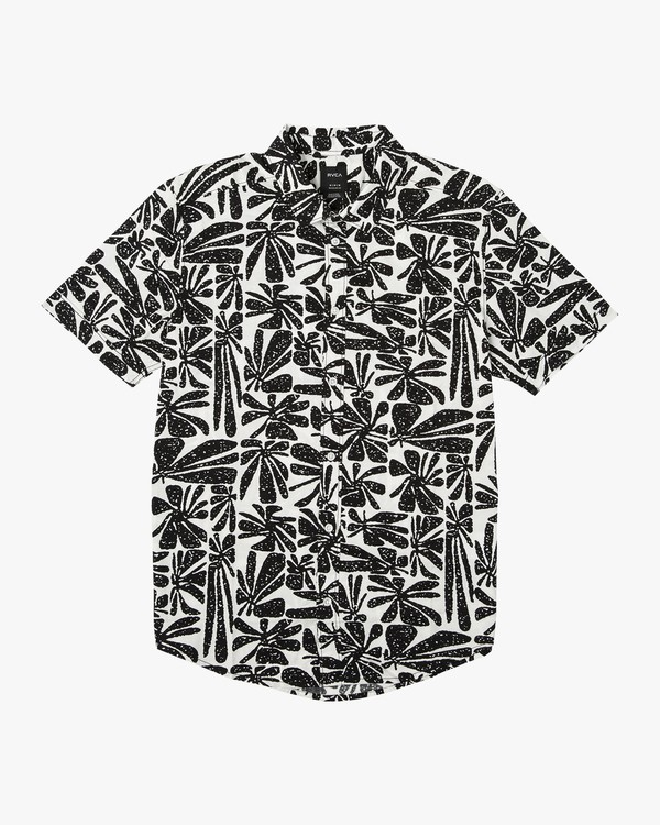 0 Mahalo Palm Button-Up Shirt  M523VRMP RVCA