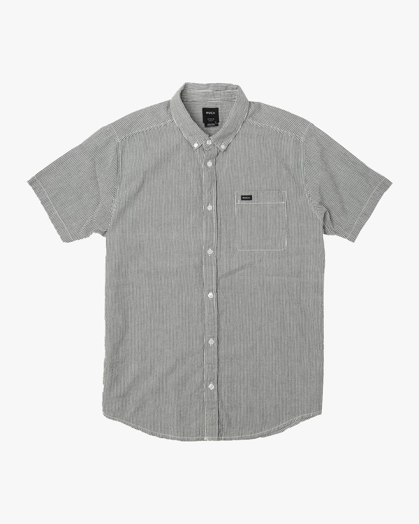 0 That'll Do Seersucker Button-Up Shirt Black M548URTN RVCA