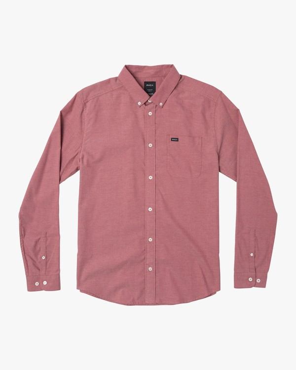 0 That'll Do Stretch Long Sleeve Shirt Brown M551VRTD RVCA