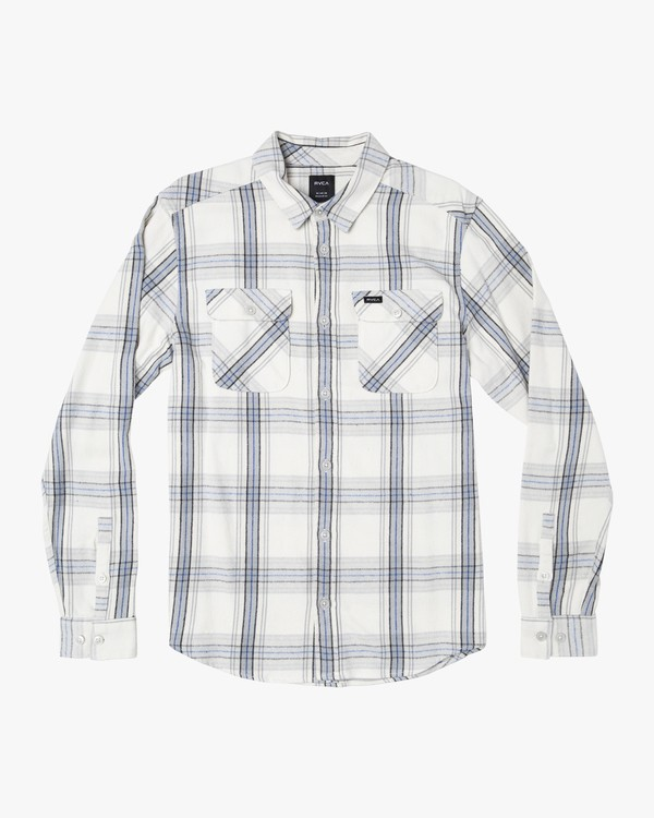 0 Reverberation Plaid Button-Up Flannel Silver M552WRRV RVCA