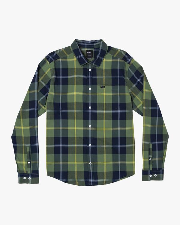 0 Spanky Okapi Plaid Long Sleeve Shirt  M553WROP RVCA