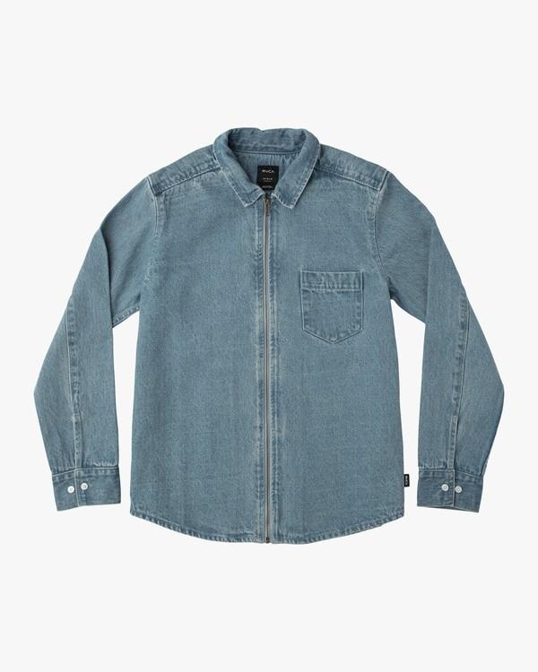 0 Neutral Hex Denim Long Sleeve Shirt  M554NRHD RVCA
