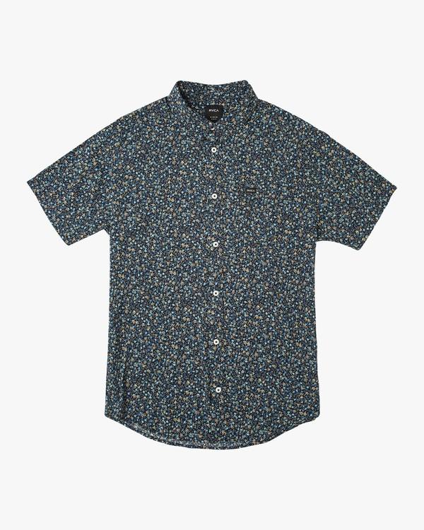 0 Revivalist Floral Button-Up Shirt Blue M556URRF RVCA