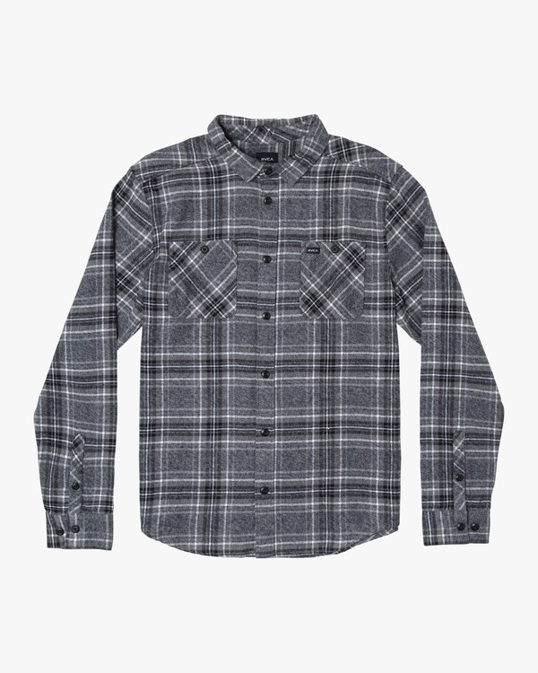0 Mazzy Plaid Button-Up Flannel Black M556WRMZ RVCA