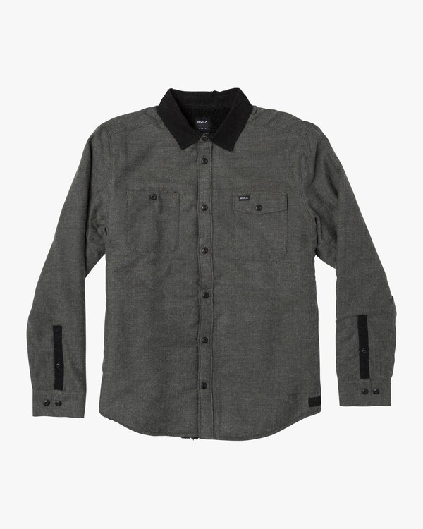 0 Victory II Long Sleeve Flannel Green M557WRVT RVCA