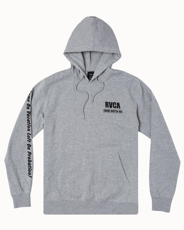0 RVCA BAIL BONDS HOODIE Grey M6023RBB RVCA