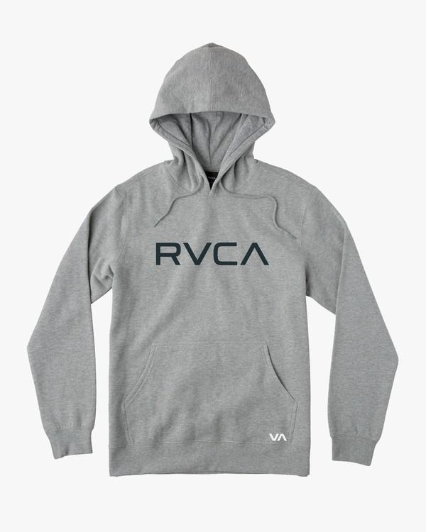 0 Big RVCA Hoodie Grey M602URBR RVCA