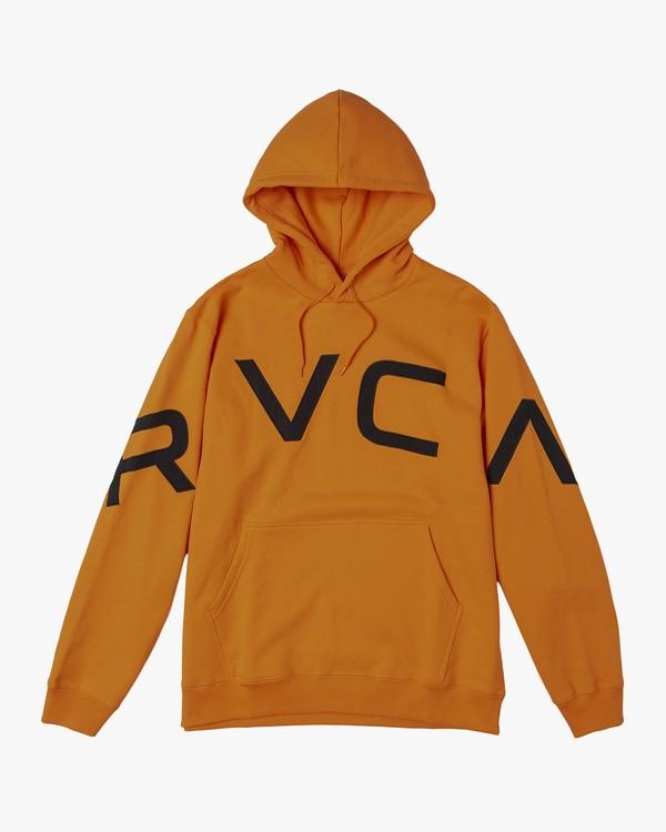 0 FAKE RVCA HOODIE Orange M602VRFR RVCA