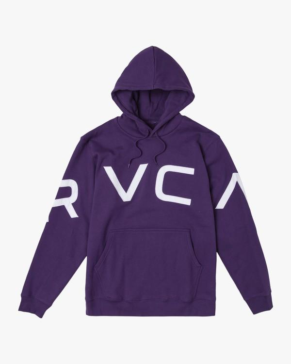 0 FAKE RVCA HOODIE Purple M602VRFR RVCA