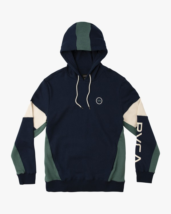 0 Perry Color Blocked Hoodie Blue M603QRPY RVCA