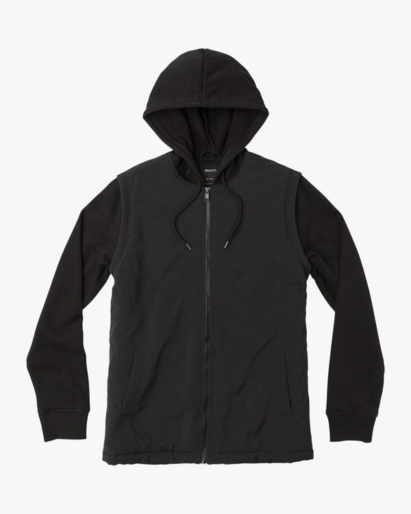 0 Logan Puffer Jacket Black M606QRLG RVCA