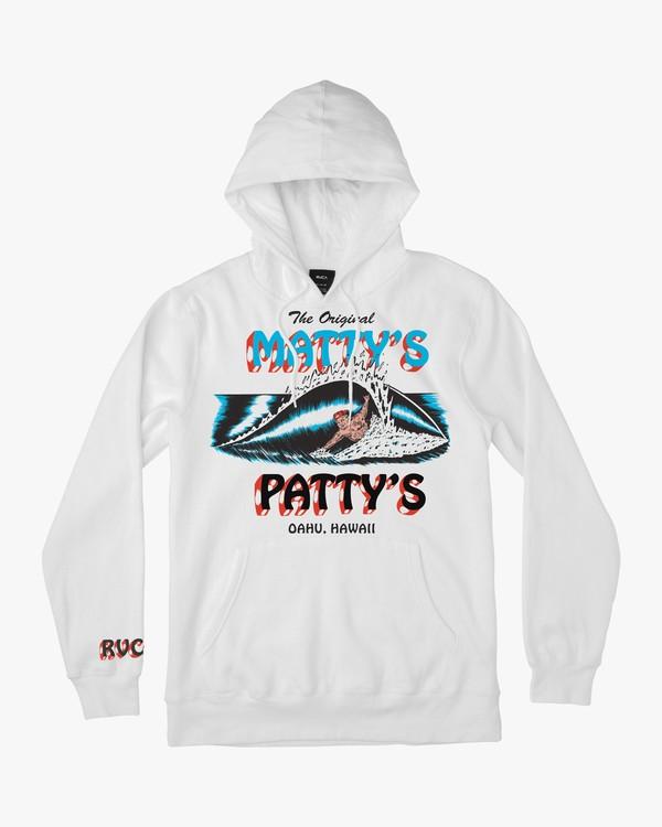0 Matty's Patty's White Hoodie  M622URMA RVCA