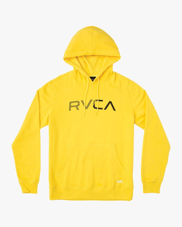 0 Scratched RVCA Hoodie Yellow M624TRSC RVCA