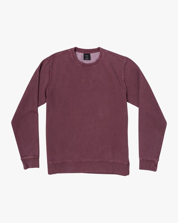0 TONALLY CREW SWEATSHIRT Red M6273RTO RVCA