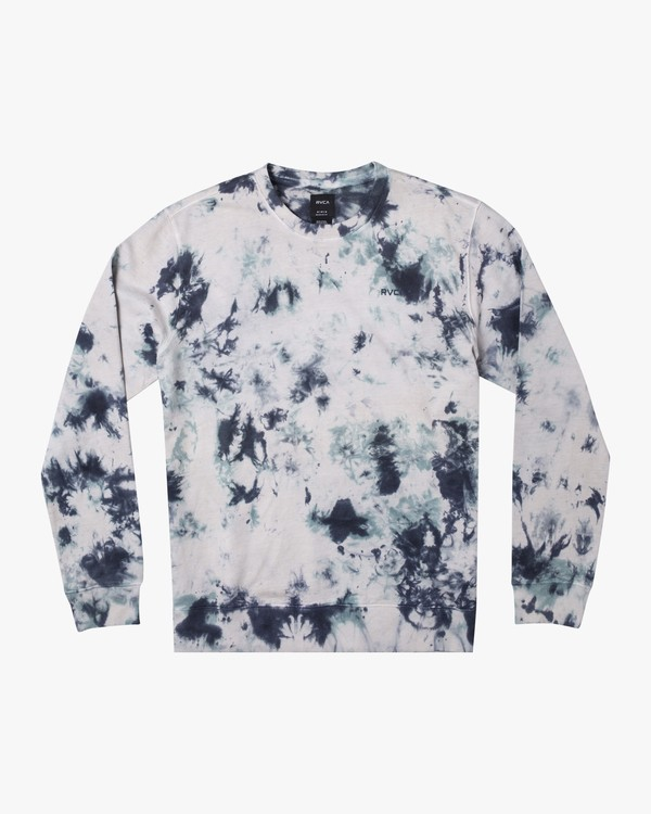 0 SWITCH TIE DYE KNIT SWEATSHIRT Blue M6281RSW RVCA