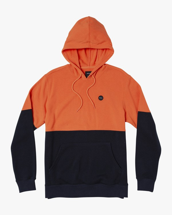 0 Carlisle Colorblocked Hoodie Orange M683WRCR RVCA