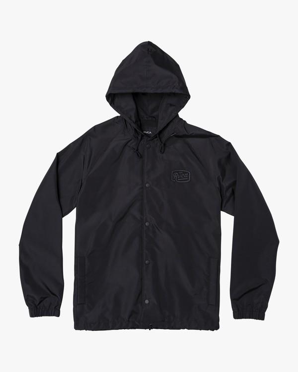 0 VA Hooded Coaches Jacket Black M701NRVA RVCA