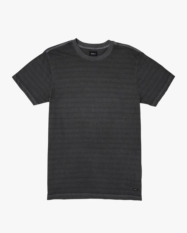 0 Saturation Stripe Knit T-Shirt Black M901VRSS RVCA