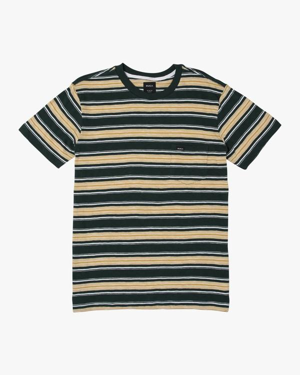 0 Hank Striped Knit T-Shirt Grey M902WRHS RVCA