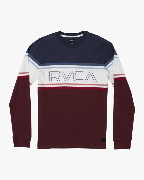 0 VHS Long Sleeve Knit T-Shirt Blue M905WRVL RVCA