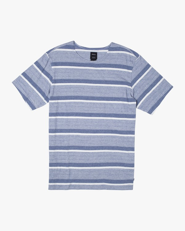 0 REPEATER SS STRIPE T-SHIRT Blue M9062RRS RVCA