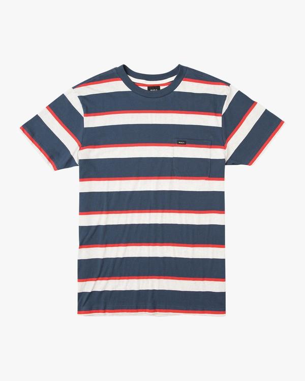 0 Fjords Stripe Knit Shirt Blue M906URFS RVCA